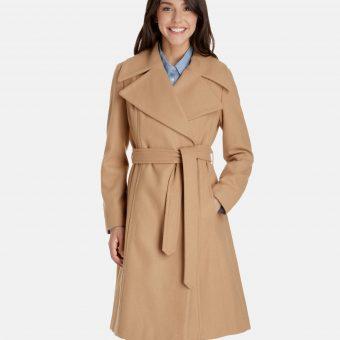 Beige-Brown Wool Coat